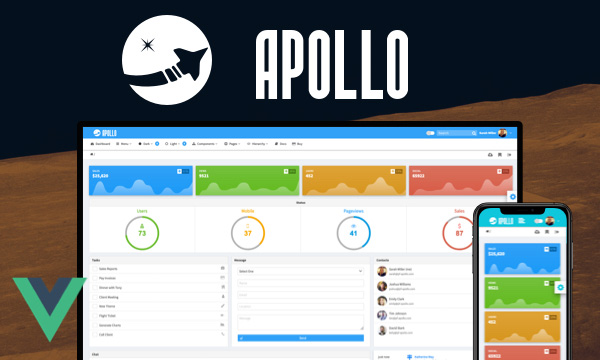 Apollo - Admin Template with a Dark Mode