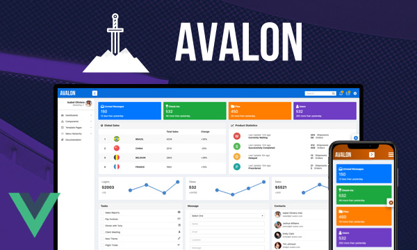 Avalon - Bootstrap Inspired Admin Template