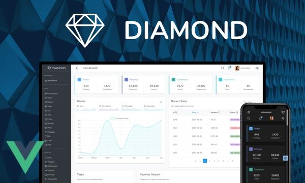 Diamond - PrimeOne Design Admin Template