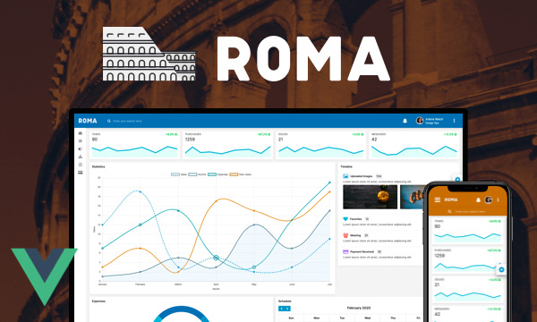 Roma - Admin Template with a Clean Design System