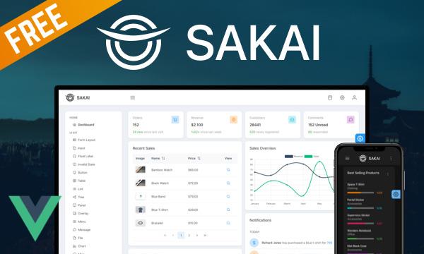 Sakai - Free Admin Template