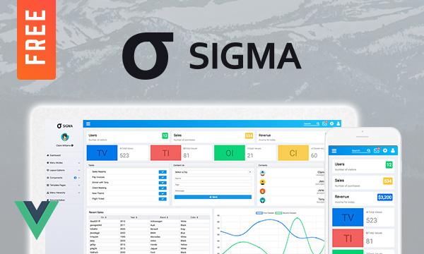 Sigma - Free Admin Template